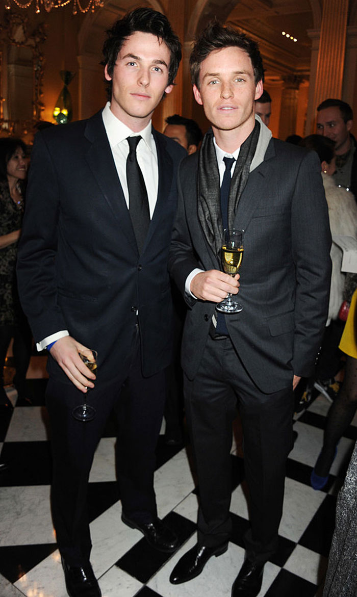 Eddie Redmayne With His Younger Brother Tom