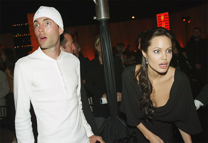 Angelina Jolie con su hermano James Haven