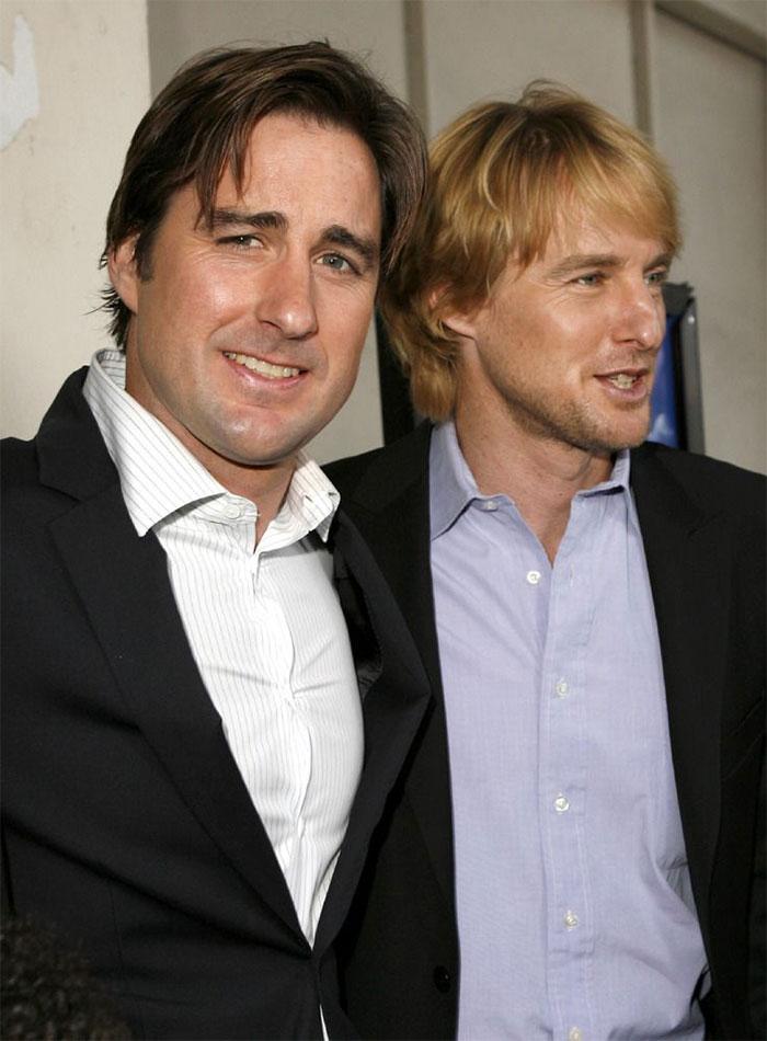 Luke Wilson With His Brother Owen Wilson