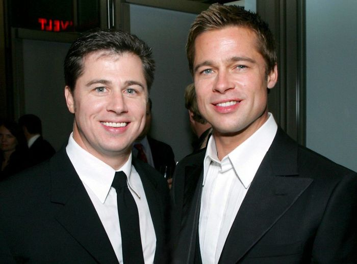 Brad Pitt With His Brother Doug