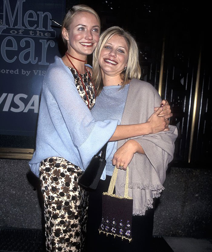 Cameron Diaz With Her Sister Chimene