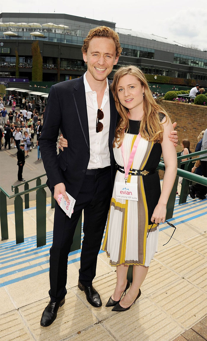 Tom Hiddleston With His Younger Sister Emma