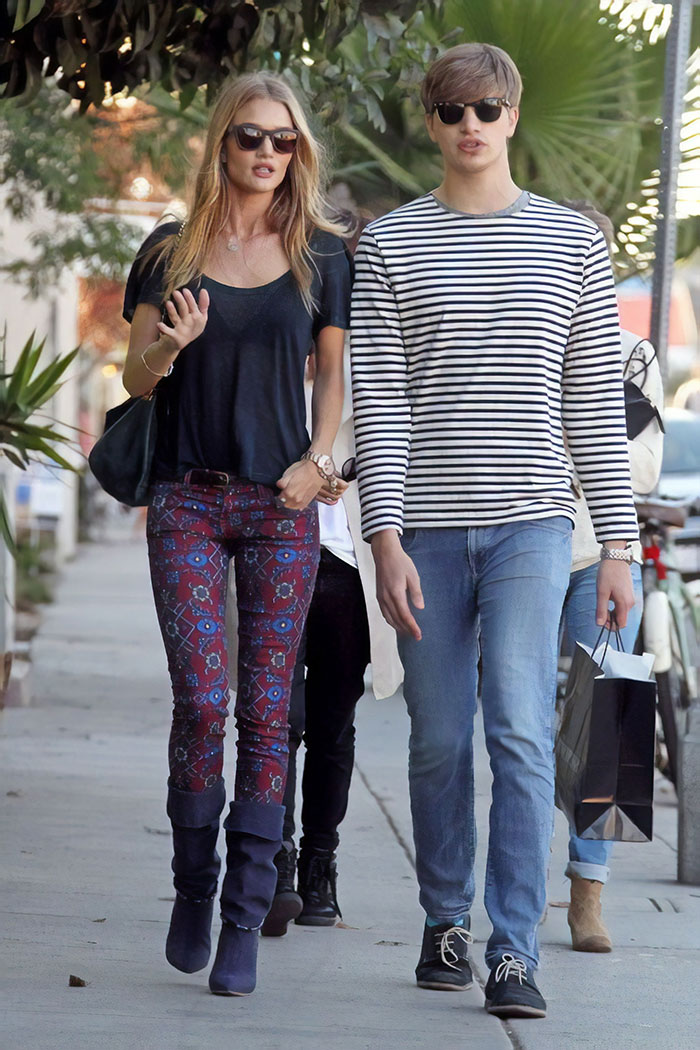 Rosie Huntington-Whiteley With Her Brother Toby