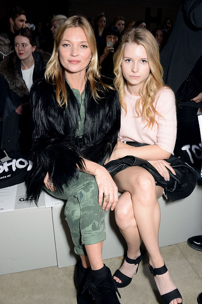Kate Moss With Her Sister Lottie