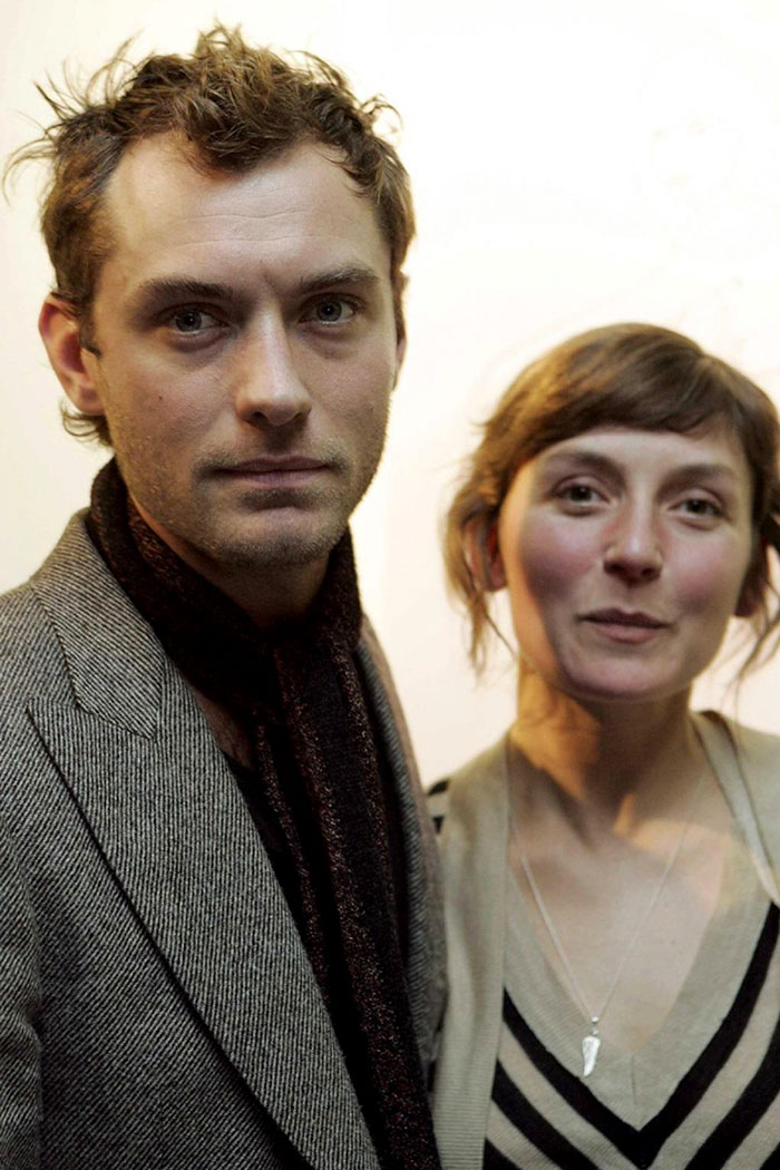 Jude Law With His Sister Natasha
