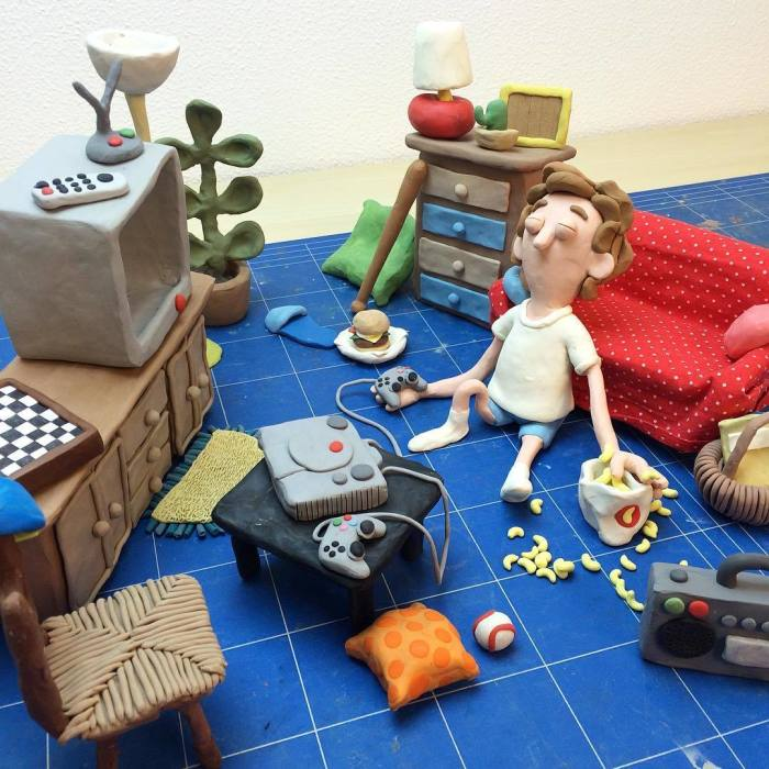Personal Selection Of Plasticine Artworks I Realized During Last Two Years