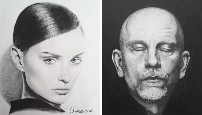 Hyper-Realistic Portraits With Just One Pencil