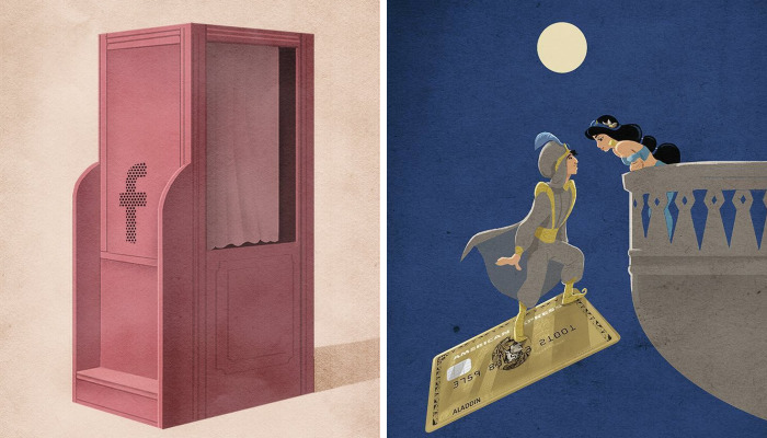 30+ Ilustraciones sobre la triste verdad de la vida moderna que he creado para hacerte pensar