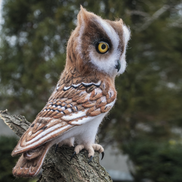 This Owl Never Flies. It Is A Felt Sculpture