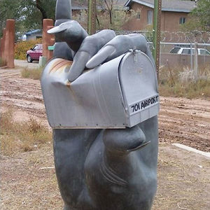 Hand Crushing The Mailbox