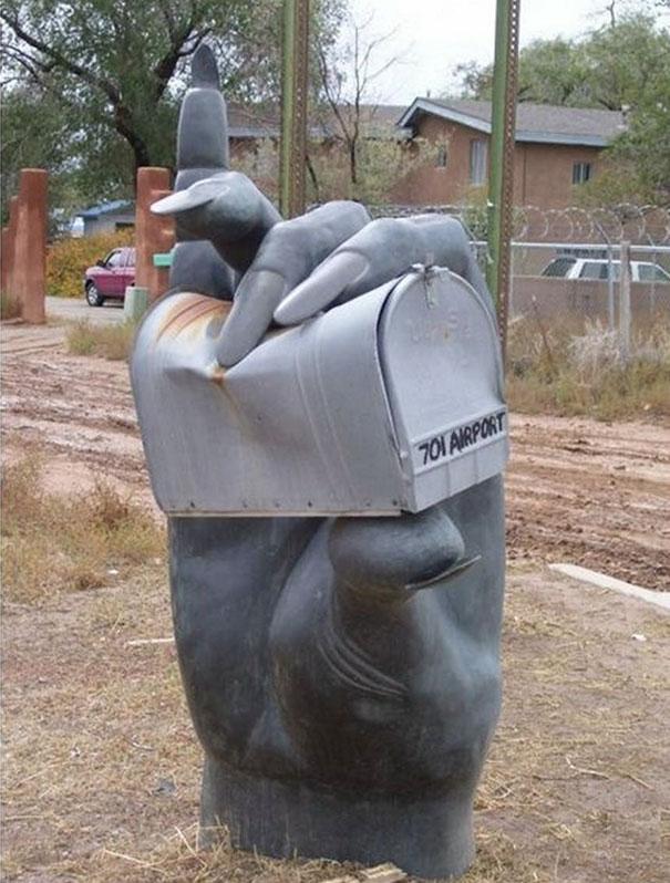 Hand Crushing The Mailbox