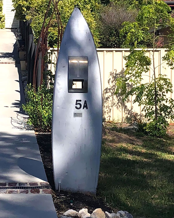 Mailbox Made Form The Surfboard