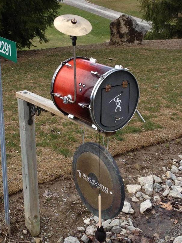 Drum Set Mailbox