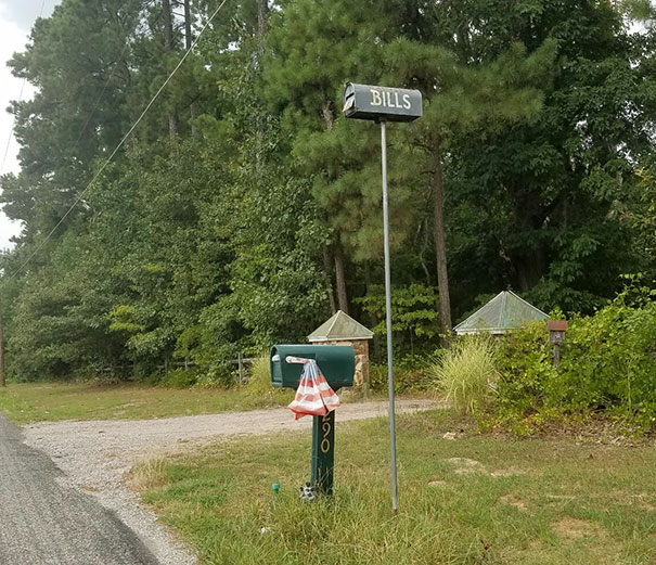 This Out-Of-Reach Mailbox For Bills