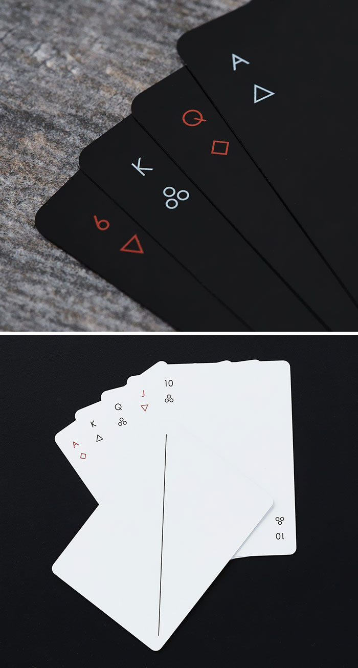 These Minimalist Playing Cards