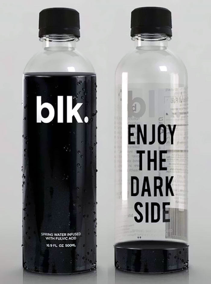 This Natural Black Water With Its Smart Packaging