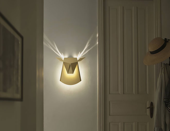 This Lamp Makes Antlers When Switched On