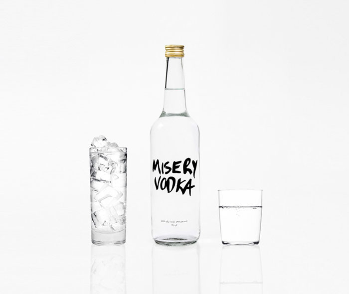 Misery Vodka Packaging Design Which Is Very Simple Yet Effective