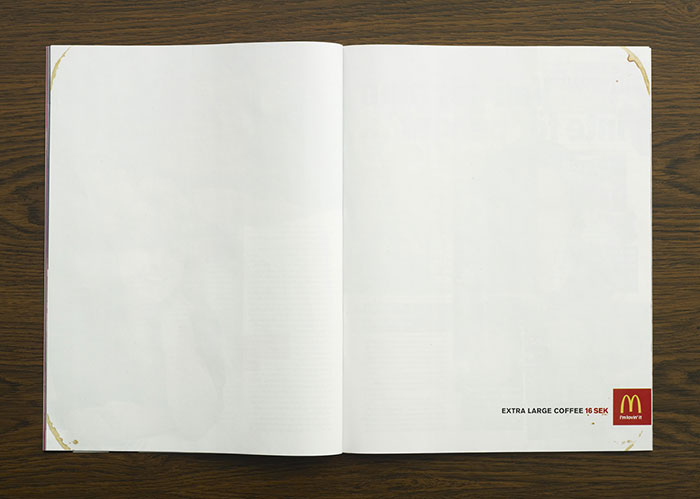 Minimalist McDonald's Ad From Sweden Shows New Large Coffee Size