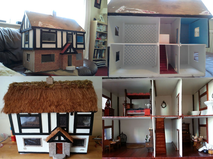 My Friend Gave Me An Old Doll's House And I Had A Lot Of Fun Doing It Up.