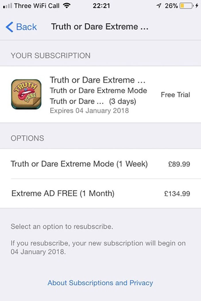 "This ""Free"" App Gives You A 3 Day Free Trial Then Charges You £90 A Week"