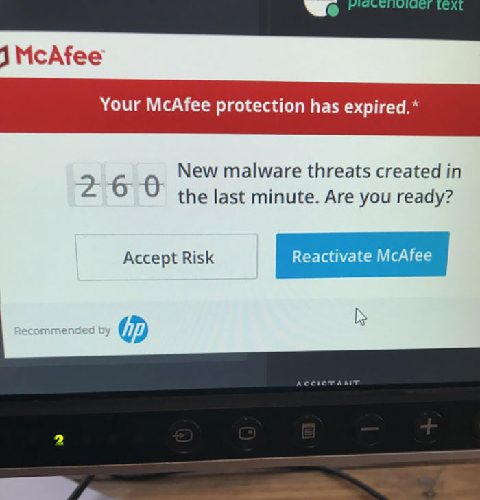 McAfee's Desperate Attempts To Make Me Give Them Money