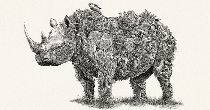 a688b532b1fb0 I Drew These Intricate Animals To Support Wildlife Conservation ...