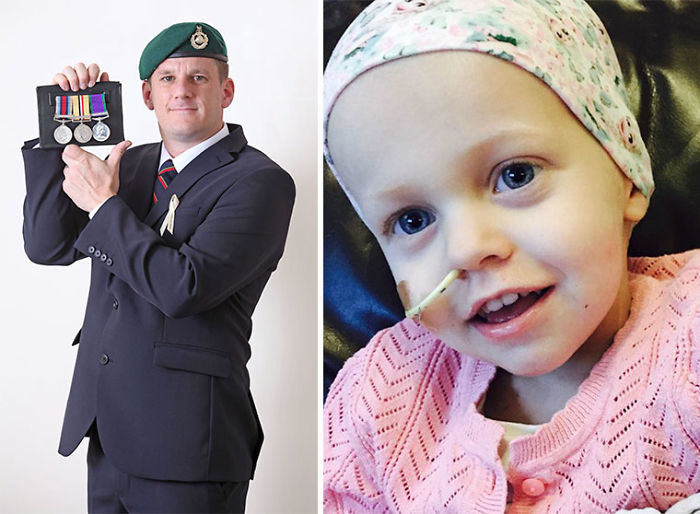 Former Royal Marine Sells His Medals For £7,600 To Fund Cancer Treatment For 4-Year-Old Girl He Has Never Met