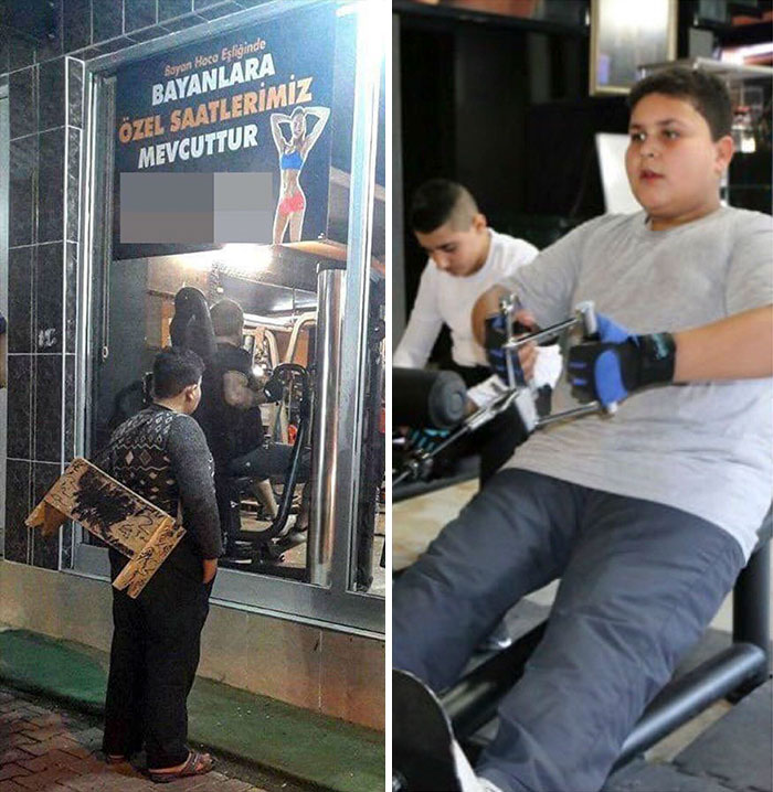 Turkish Social Media Was Heartbroken Over The Viral Photo Of A Syrian Refugee Boy Staring Into A Turkish Gym. So The Gym Gave The 12-Year-Old Muhammad Hussein A Free Lifetime Membership