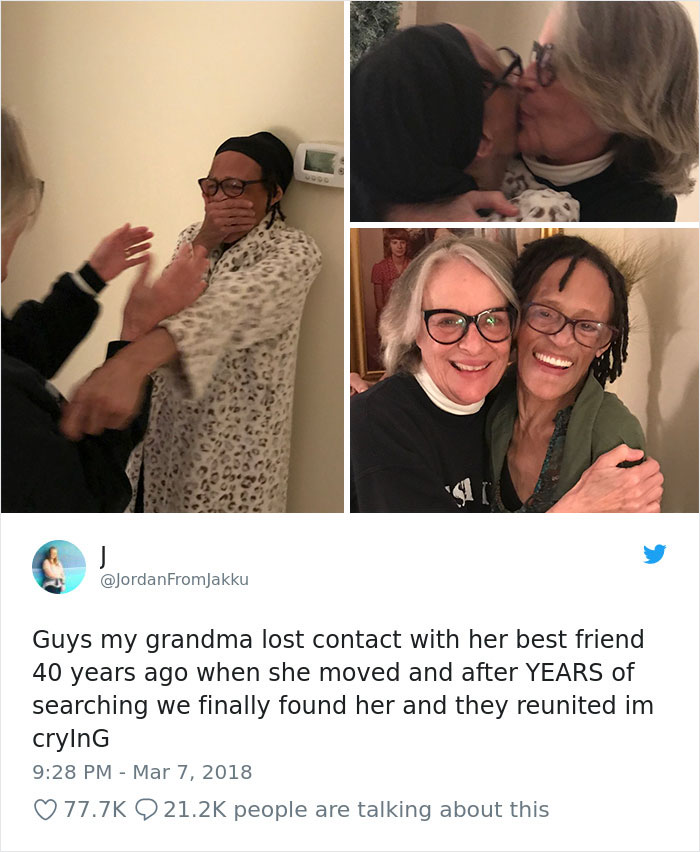 Reunited With Her Best Friend After 40 Years