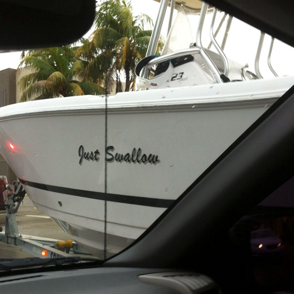 I Wonder What Tho Owners Of This Boat Look Like