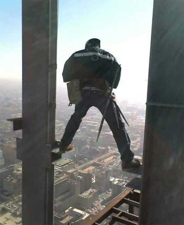 """Like My Foreman Told Me """"If You Fall, You're Fired Before You Hit The Ground"""""""