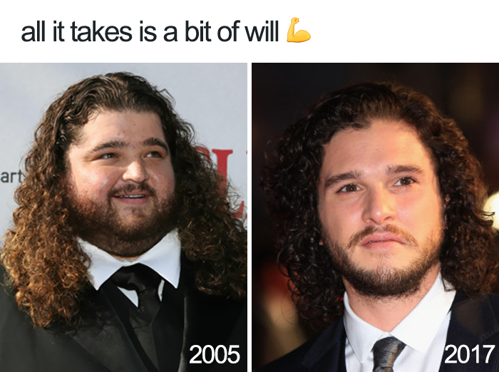 Progress: 12 Years Of Hard Work Payed Off. From Lovable Big Guy To Heartthrob