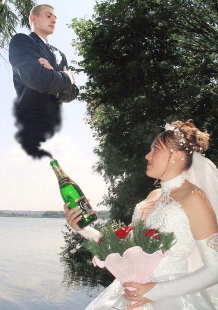 Encontró el amor en el fondo de la botella