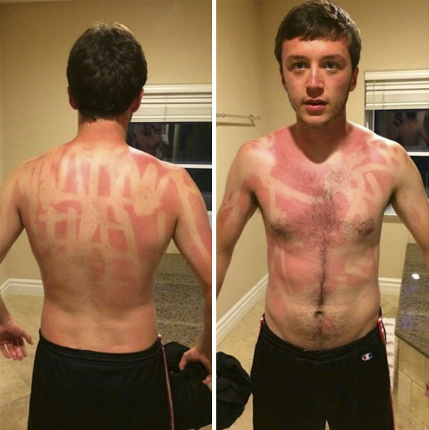 A Buddy Of Mine Seemed To Think Stick Sun Screen Was A Good Idea