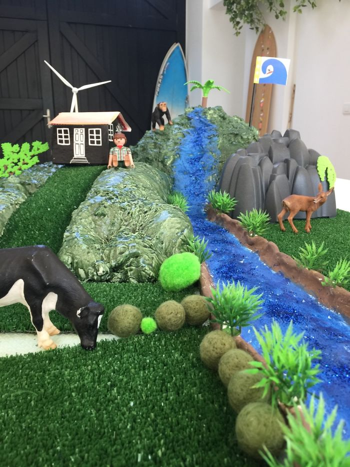 """This Is My Son's School Project Where He Had To Invent A New Country, It's Called """"Surftopia"""""""