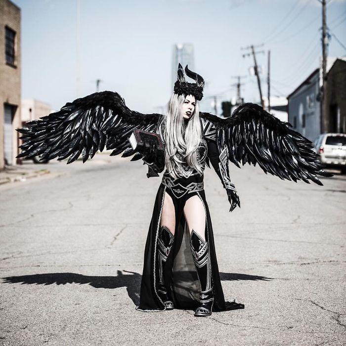 I Made Myself A Pair Of 10ft Wings And Some Armor Out Of Craft Foam And Thermoplastics.