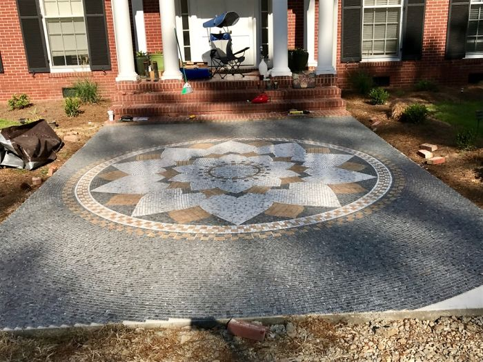 A Mosaic I Made Last Summer For Our Front Patio.