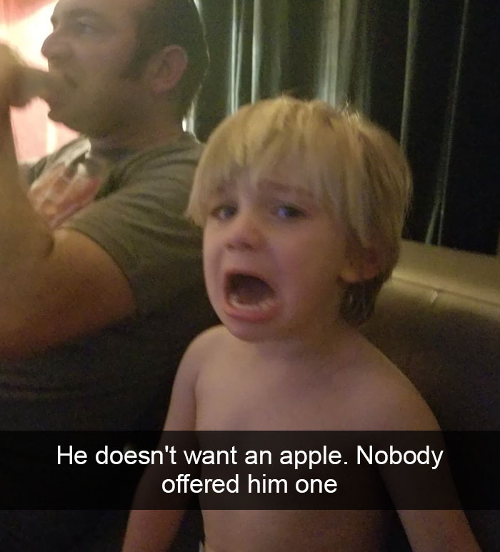 He Doesn't Want An Apple. Nobody Offered Him One