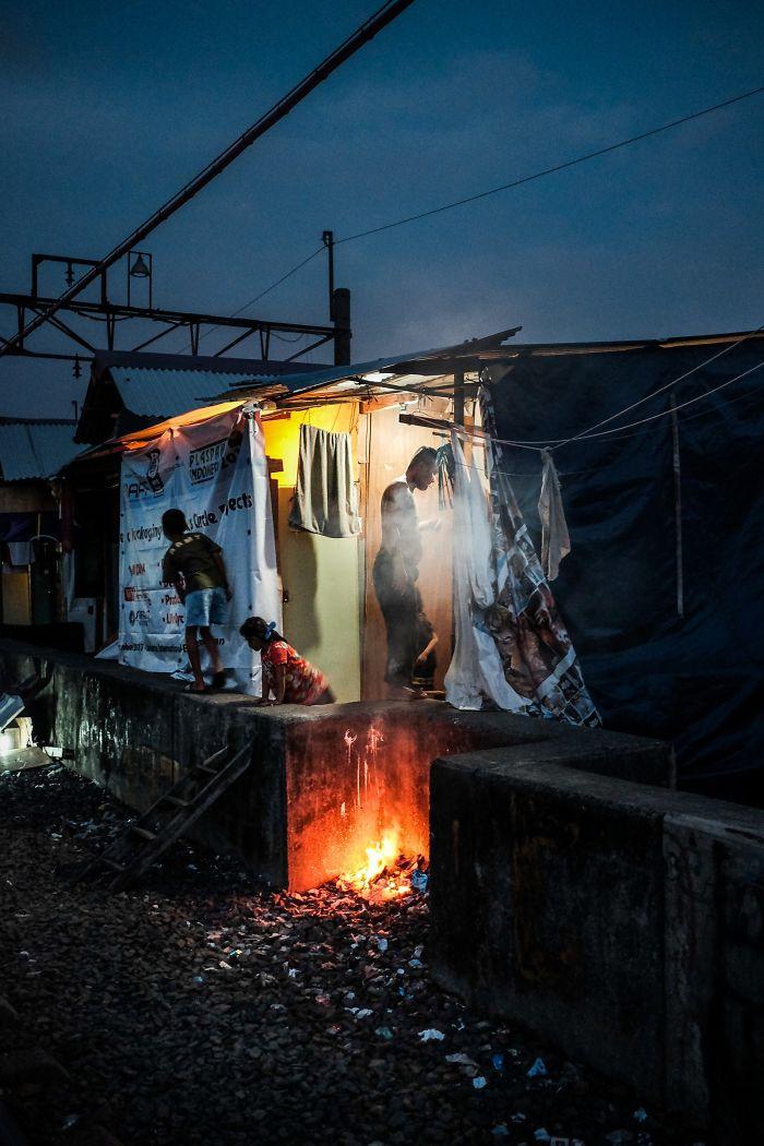 Evening In A Slum