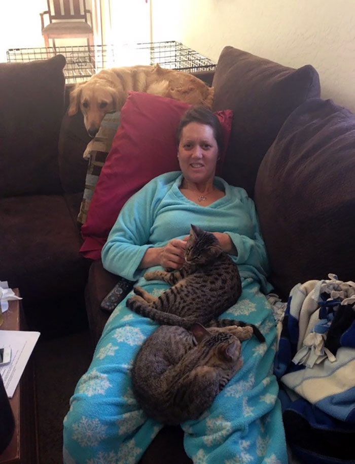 My Mom Has Brain Cancer. Somehow, I Think Our Pets Know When She's Having A Bad Day
