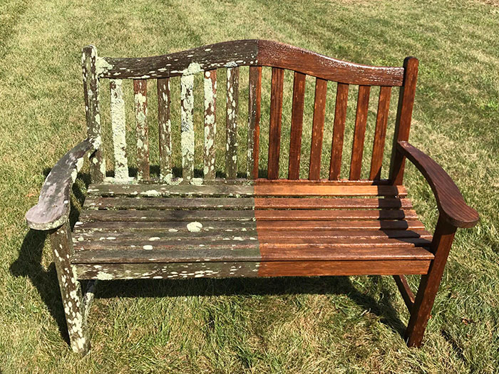 I Power Washed A Garden Bench The Wife Gave Me 16 Years Ago