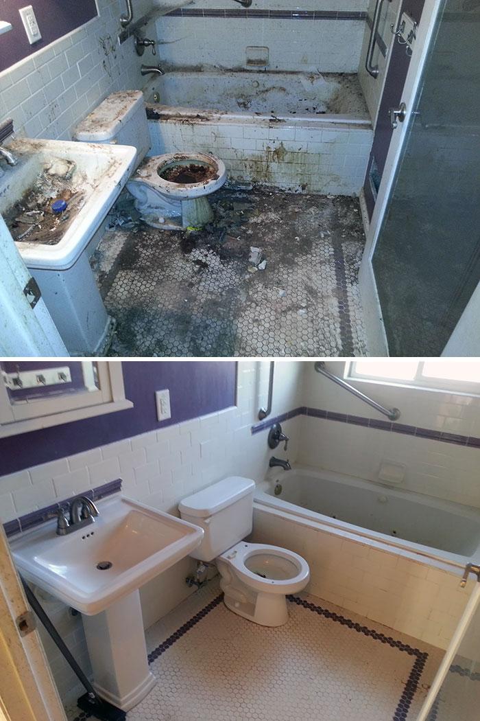 Tras limpiar la casa de alguien con síndrome de Diógenes