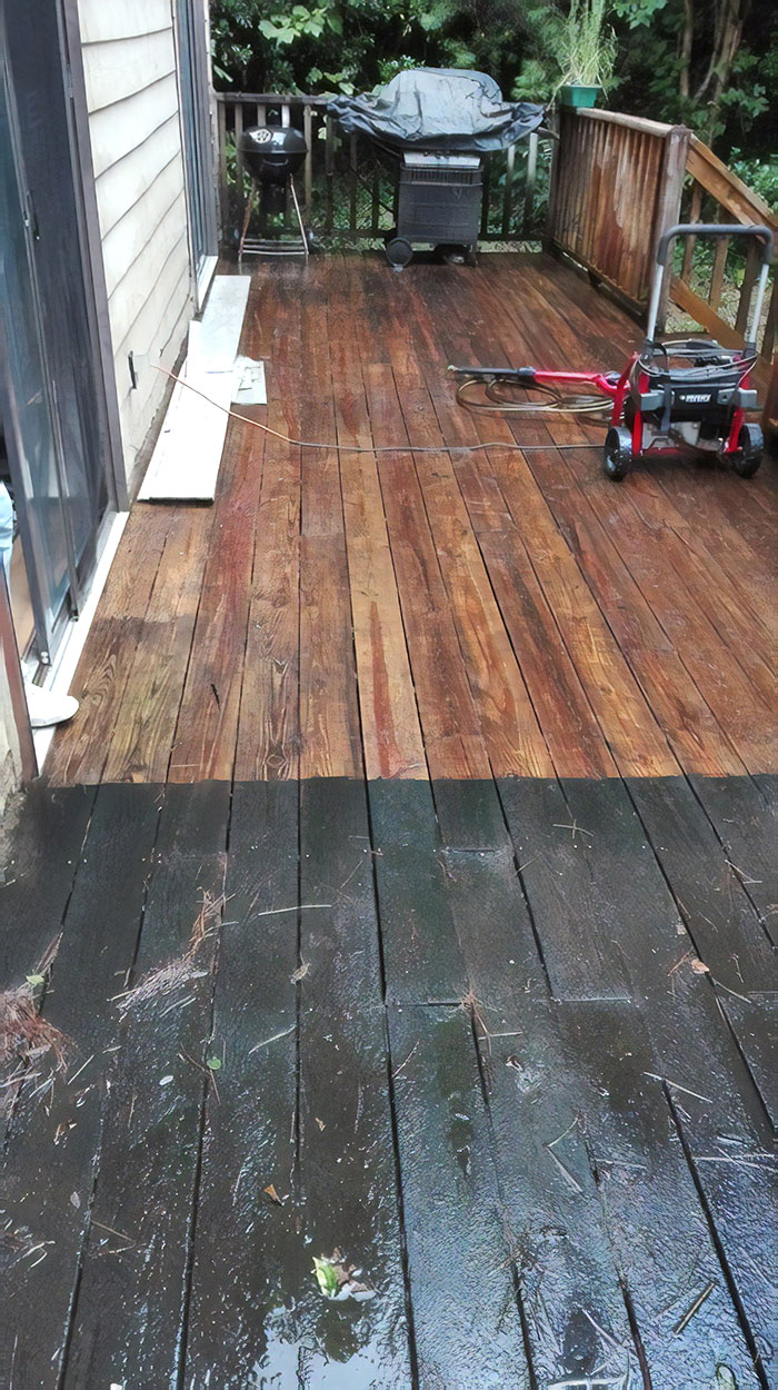 This Deck Hadn't Been Washed Since It Was Built In 1987. It Was So Satisfying To Clean