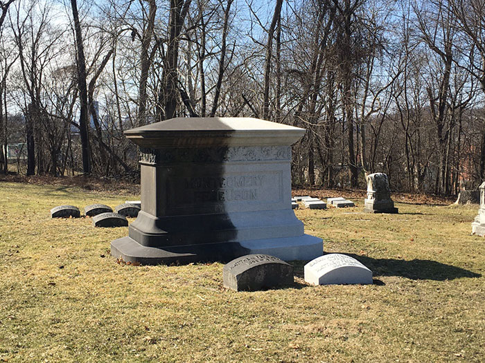 I Can't Tell If I Am Mildly Infuriated That It This Tombstone Has Been Like This For 8 Months, Or If The Contrast Is Mildly Interesting