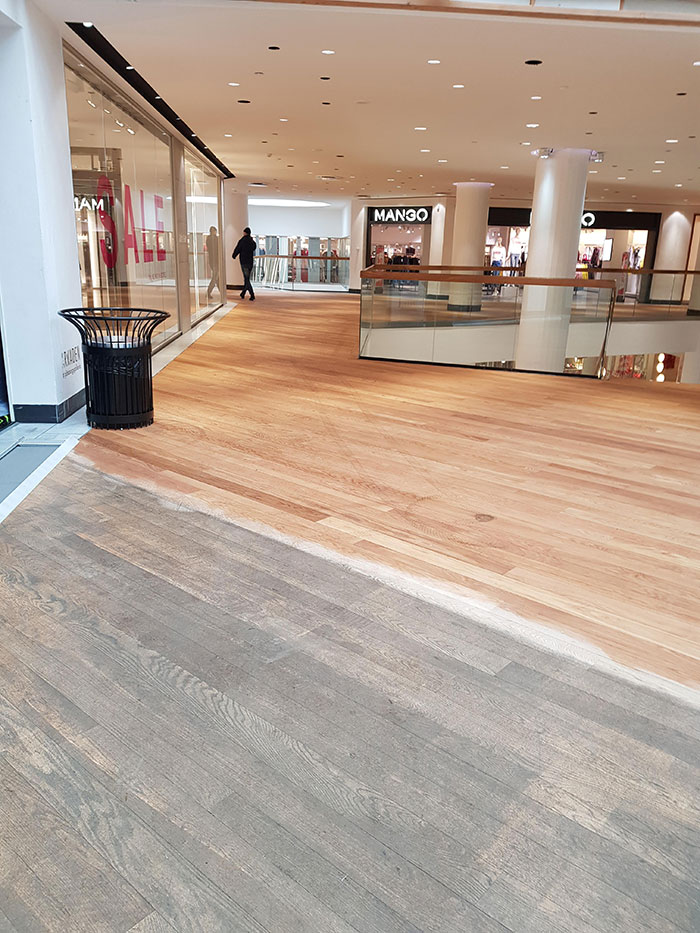 Power Washing At The Mall