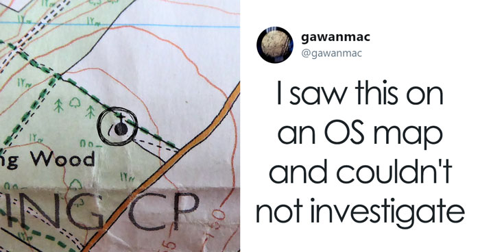 Guy Sees Hidden Place On OS Map In Middle Of Nowhere, Cannot Resist Urge To Investigate