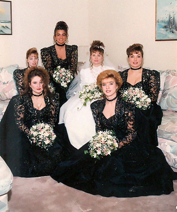 Funny Old Woman Wedding Gowns: 46 Ridiculous Vintage Bridesmaids Dresses That Show Just