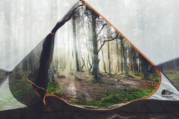 This Photo From Inside A Tent Looks Like Photoshop