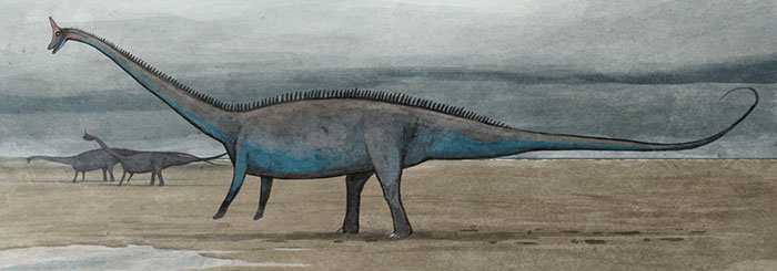 A Bull Diplodocus Briefly Walks On Two Legs While On A Beachside Excursion, As His Kind Often Does